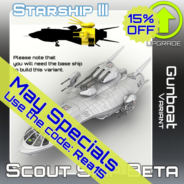 Scout Ship Beta Gunboat Variant Upgrade
