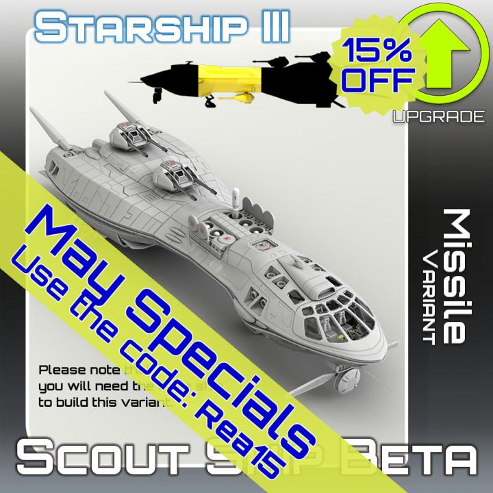 Scout Ship Beta Missile Variant Upgrade