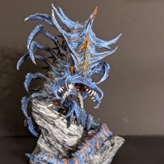 Picture of print of Remorhaz-Worm/centipede monster (huge size)