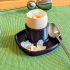 Simple egg cup with saucer image