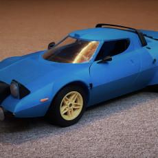 Lancia Stratos - 1:10 scale model kit