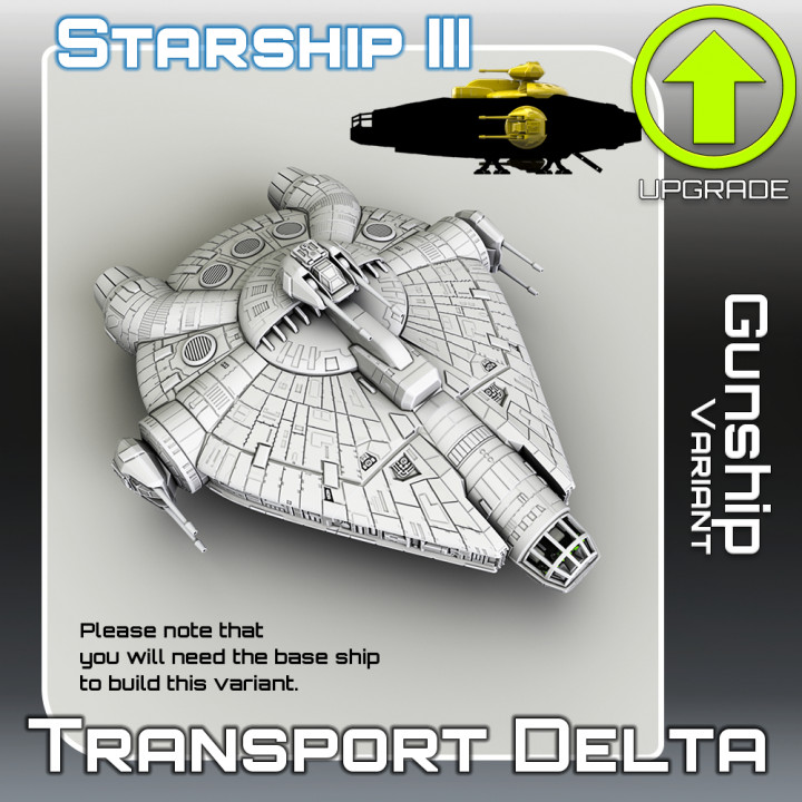 Transport Delta Gunship Variant Upgrade
