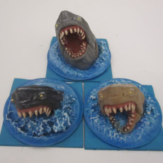 Picture of print of 3 SHARKS