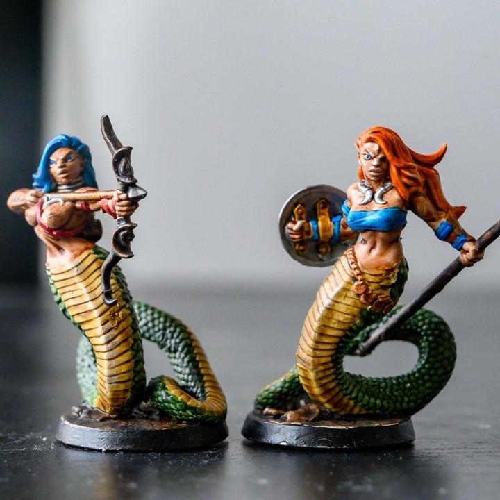 Snakewoman Guards - 3 Units (AMAZONS! Kickstarter)