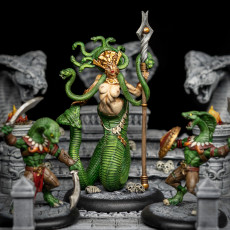 Picture of print of Queen Sthenaria + Snakes Altar (AMAZONS! Kickstarter)