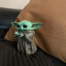 Picture of print of Baby Yoda Holding Beer Mug (Multimaterial)