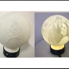 Lithophane Globe LED Stand