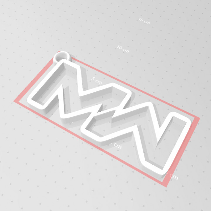 3d Printable Call Of Duty Modern Warfare Logo Keychain By Jozka