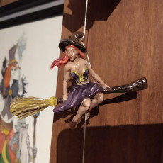 Picture of print of Witch on a broom