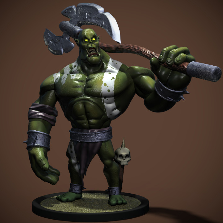 Fantasy Orc miniature 3D print model