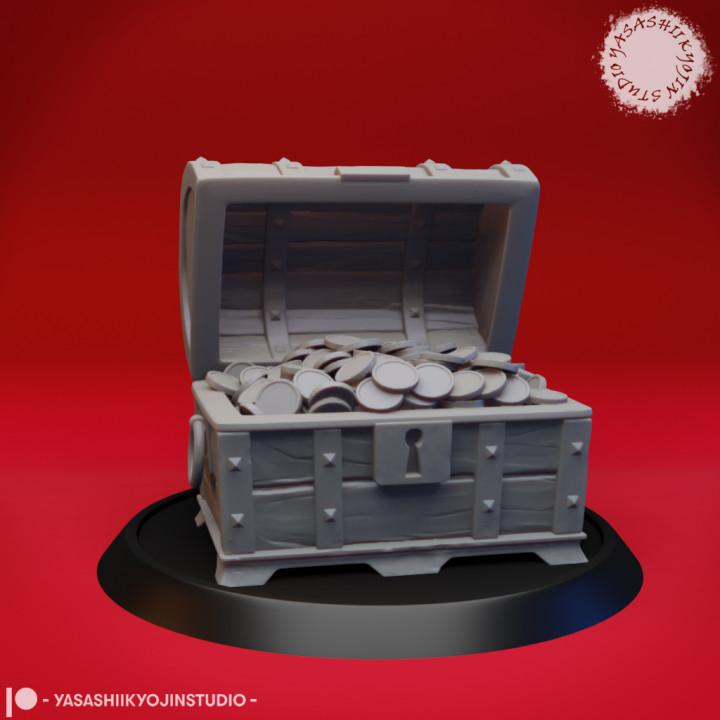 Open Treasure Chest - Tabletop Miniature