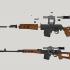 SVD Dragunov sniper rifle - scale 1/4 image