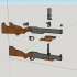 M79 grenade launcher - scale 1/4 image