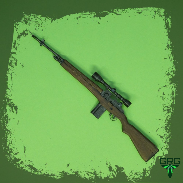M14 rifle with scope - scale 1/4