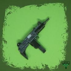Uzi submachine gun - scale 1/4