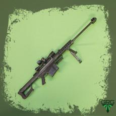 Barrett M82A1 - scale 1/4
