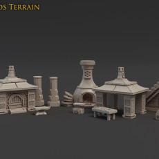 Metal Beards Terrain set