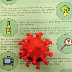 Picture of print of Coronavirus (2019-nCoV, COVID-2019)