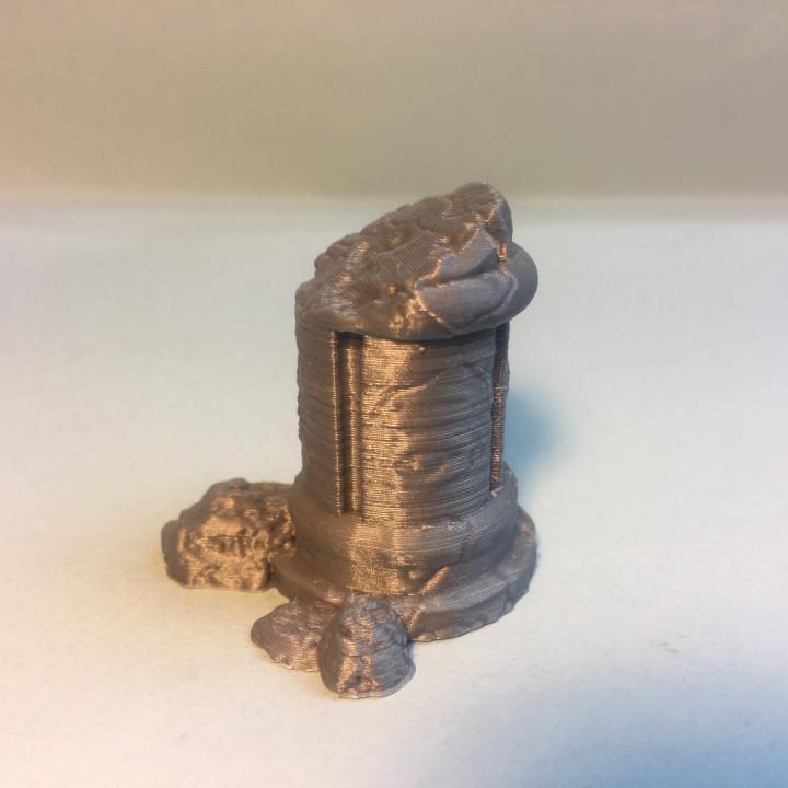 Ruined Half Pillar