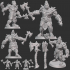 Half-orc Barbarian Type A w/ Modular Hands + 4 Weapons (Presupported) image