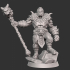 Half-orc Barbarian Type B w/ Modular Hands + 4 Weapons (Presupported) image