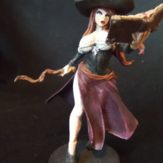 Picture of print of Witch Hunter pin-up mini diorama part 1