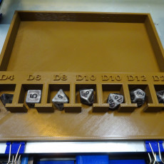 D&D Dice Tray - Labeled Dice Spaces