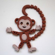Picture of print of Flexi Articulated Monkey