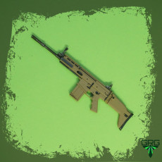 FN SCAR 17S - scale 1/4