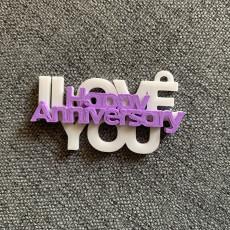 I Love You - Keychain