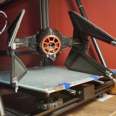 Picture of print of TIE Interceptor