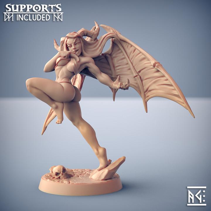 Aya - Lust Demon (Fantasy Pin-Up)