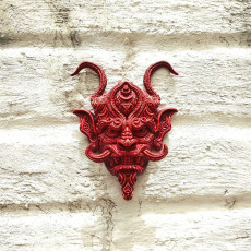 Picture of print of Oni wall piece