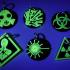 Hazard symbol keychains image