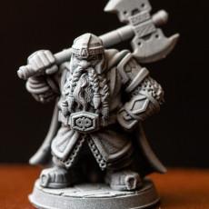 Picture of print of Uddir Thunderaxe  - Dwarf - 32mm - DnD -