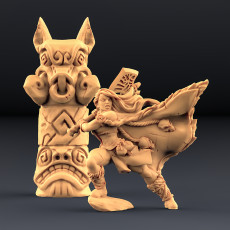 Franziska the Battlemaster & Boar Totem (AMAZONS! Kickstarter)
