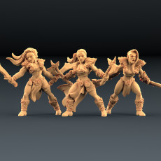 Barbarian Blademasters - 3 Units (AMAZONS! Kickstarter)