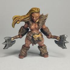 Picture of print of Hildara Bloodrage - Dwarf Berserk Heroine (AMAZONS! Kickstarter)