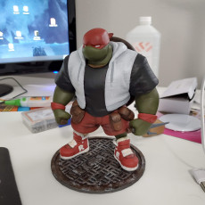 Picture of print of TMNT Raphael
