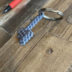 Minecraft axe, connectable with keychain