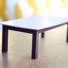 Modern Dollhouse Table