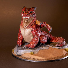 Picture of print of Desert Burrower Dragon - Presupported