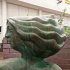 Head of Monmouth Walk sculpture in Cwmbran, South Wales, UK image