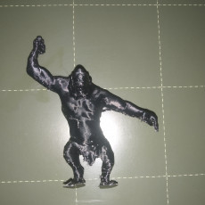 Picture of print of A cave troll from the lord of the ring, adapted to table top game (28mm)