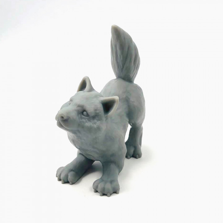 Wolfie: supports free wolf cub sculpt