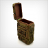 Steampunk box with hinge. image