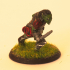 A Moria goblin from the lord of the ring, adapted to table top game (28mm) image