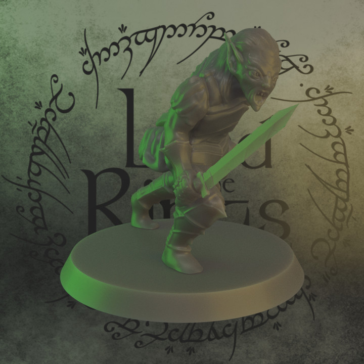 A Moria goblin from the lord of the ring, adapted to table top game (28mm)
