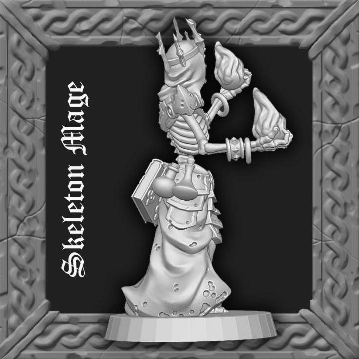 Skeleton Mage - Arcane Fire