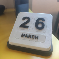 Picture of print of Desktop Calendar